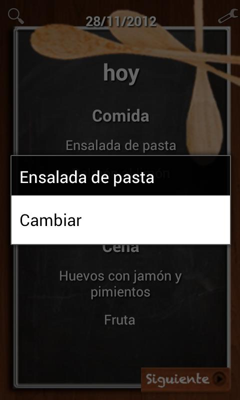 Mi Menú Saludable - screenshot