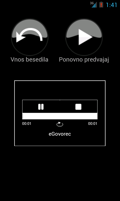 eGovorec- screenshot