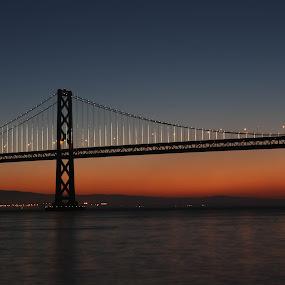San Francisco Bay Bridge by VAM Photography - Buildings & Architecture Bridges & Suspended Structures ( travel, places, bridge, architecture, morning,  )