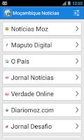 Screenshot of Moçambique Notícias