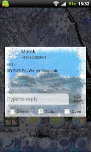Winter Mountain for GO SMS Pro- screenshot thumbnail