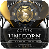 unicorn clock widget