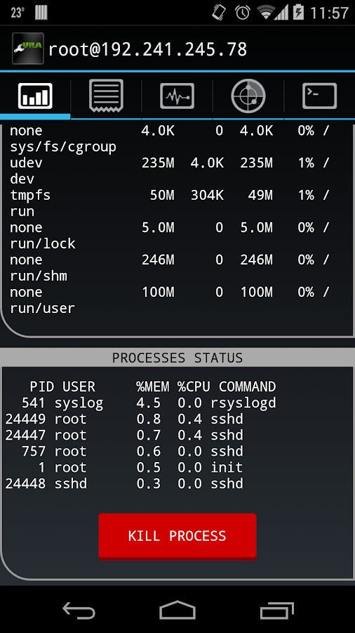 Cura SysAdmin- screenshot