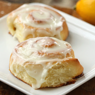 Meyer Lemon Sticky Rolls