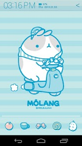 Molang IceCream Blue Atom screenshot 2