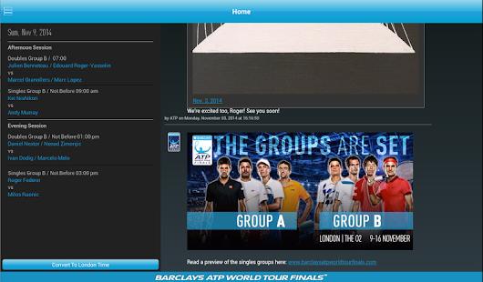 Barclays ATP World Tour Finals - screenshot thumbnail
