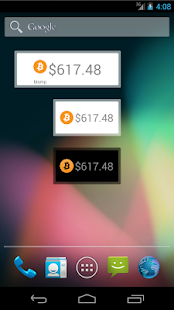 Simple Bitcoin Widget - screenshot thumbnail