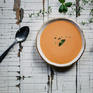 Chilled Tomato Peach Soup.