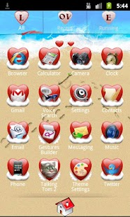 Go Launcher Love Theme - screenshot thumbnail