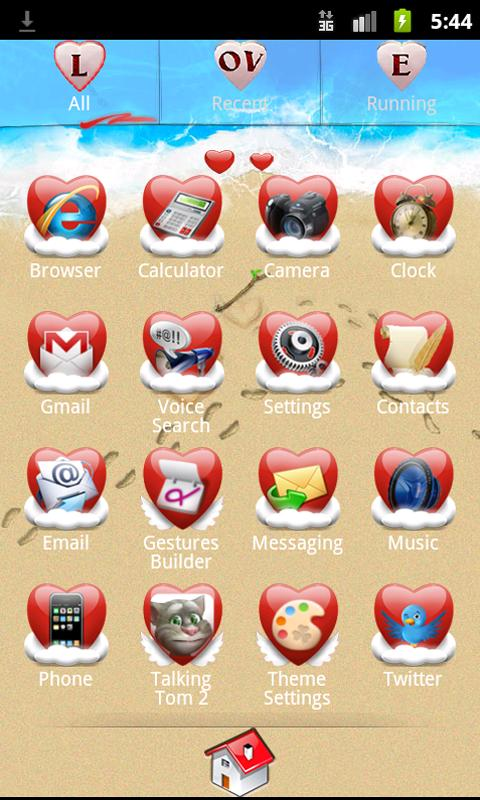 Go Launcher Love Theme - screenshot