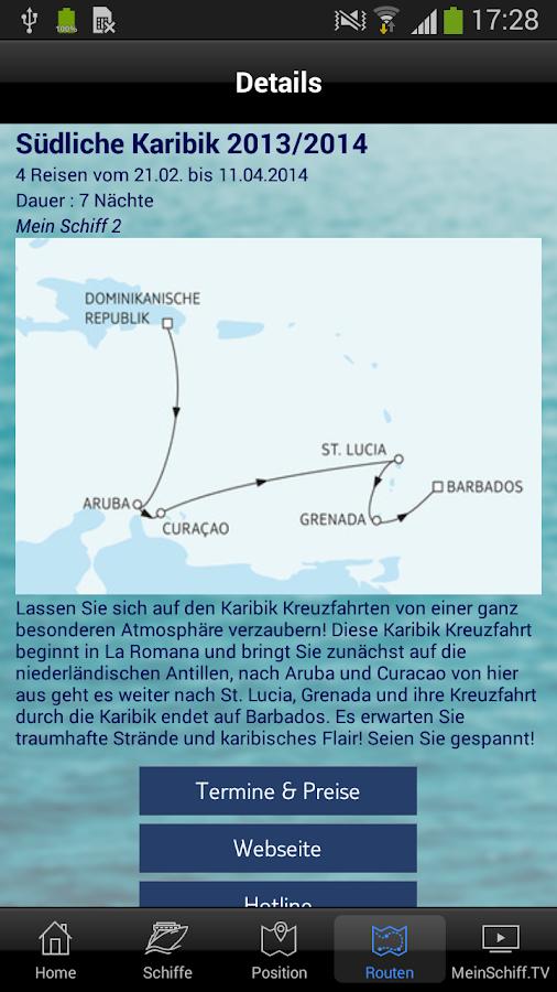 Mein Schiff Kreuzfahrten- screenshot
