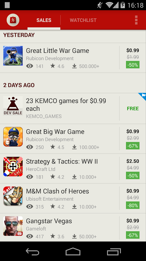 AppSales. Best Apps on Sale - screenshot