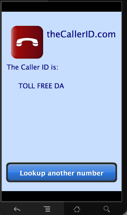 Caller ID- screenshot