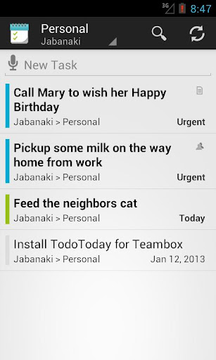 TodoToday Pro for Teambox