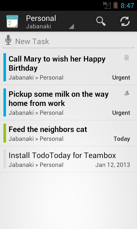 TodoToday Pro for Teambox- screenshot