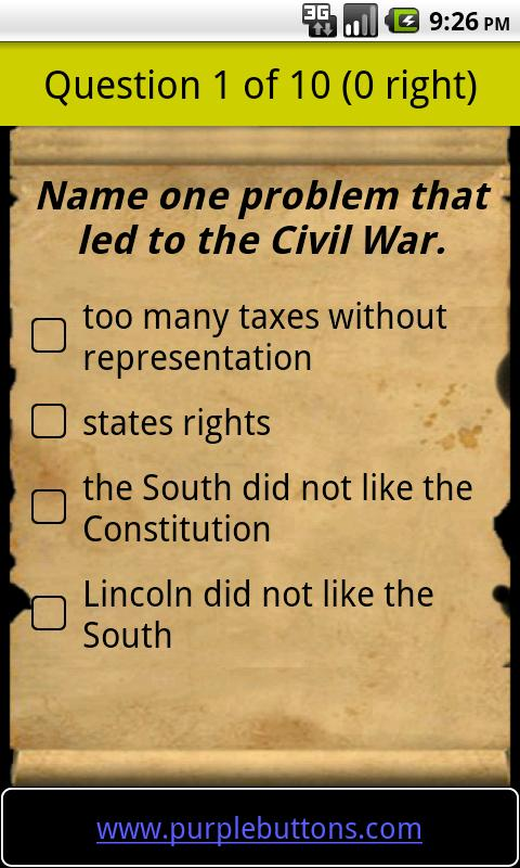 Free US Citizenship Test - screenshot