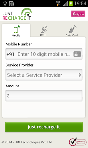 Mobile DTH Datacard Recharge
