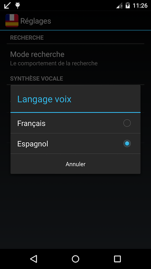 Offline Spanish French Dict.- screenshot