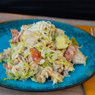 Chicken, Bacon and Brussels Sprout Mac and Cheese