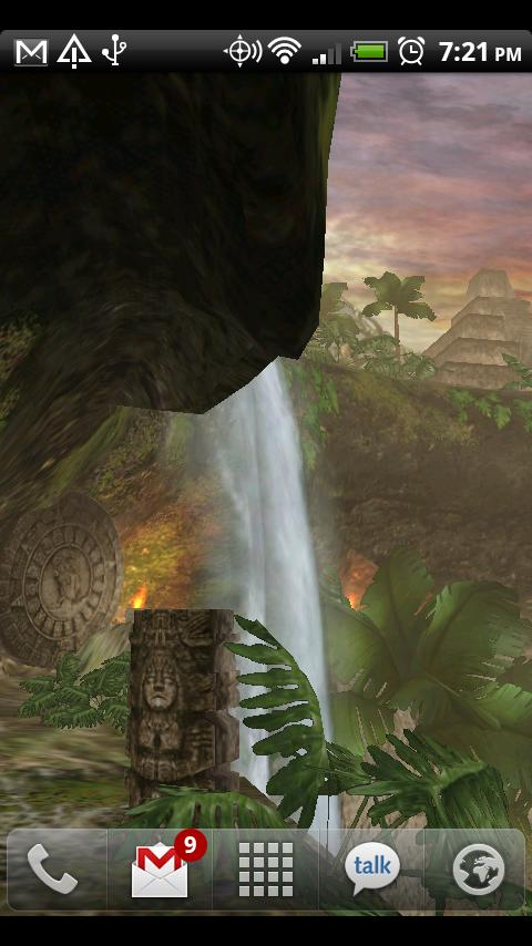 Jungle Waterfall LiveWallpaper - screenshot