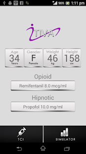 iTIVA pro Anesthesia screenshot for Android