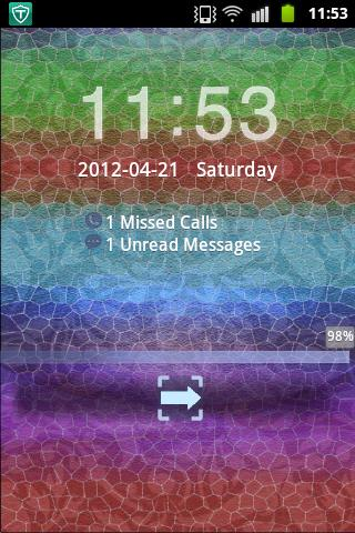GO Locker Theme Blue Red Green - screenshot