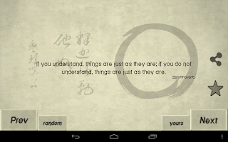 Screenshot of Zen Quotes