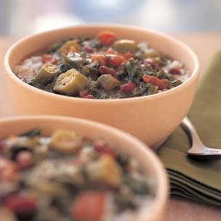 Kale and Red Bean Gumbo