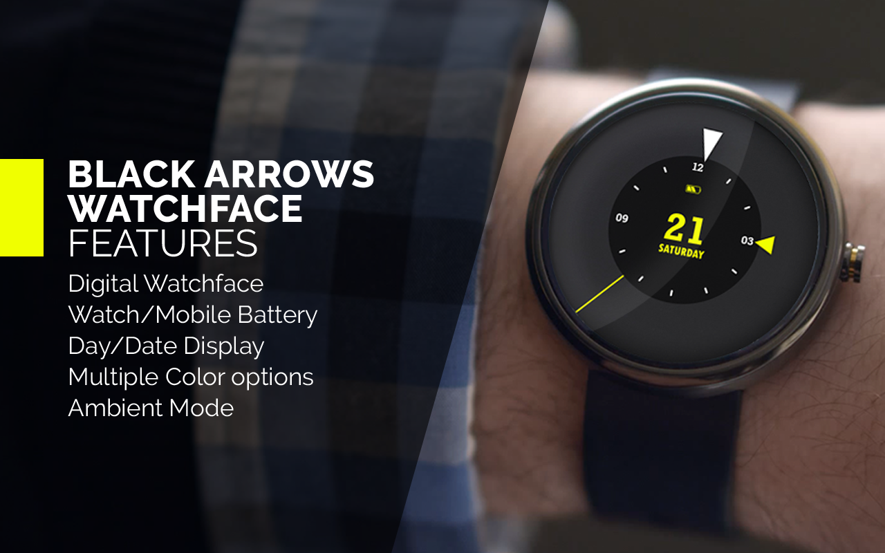 Black Arrows Watch Face- screenshot