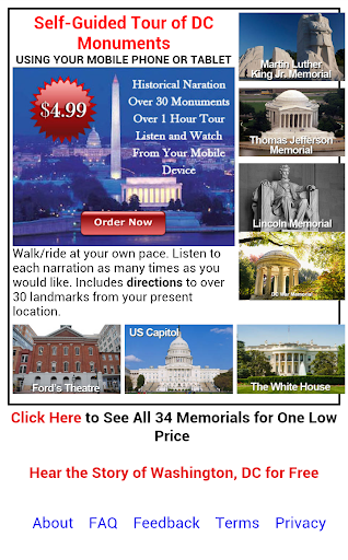 Self-Guided Tour DC Monuments