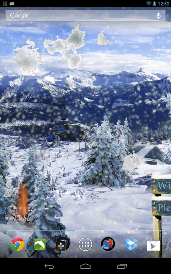 Winter Snow Live Wallpaper Pro - screenshot