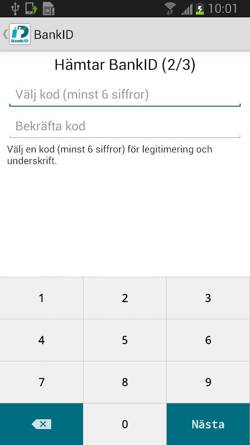 BankID säkerhetsapp - screenshot