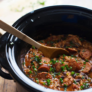 Slow Cooker Creole Chicken and Sausage.