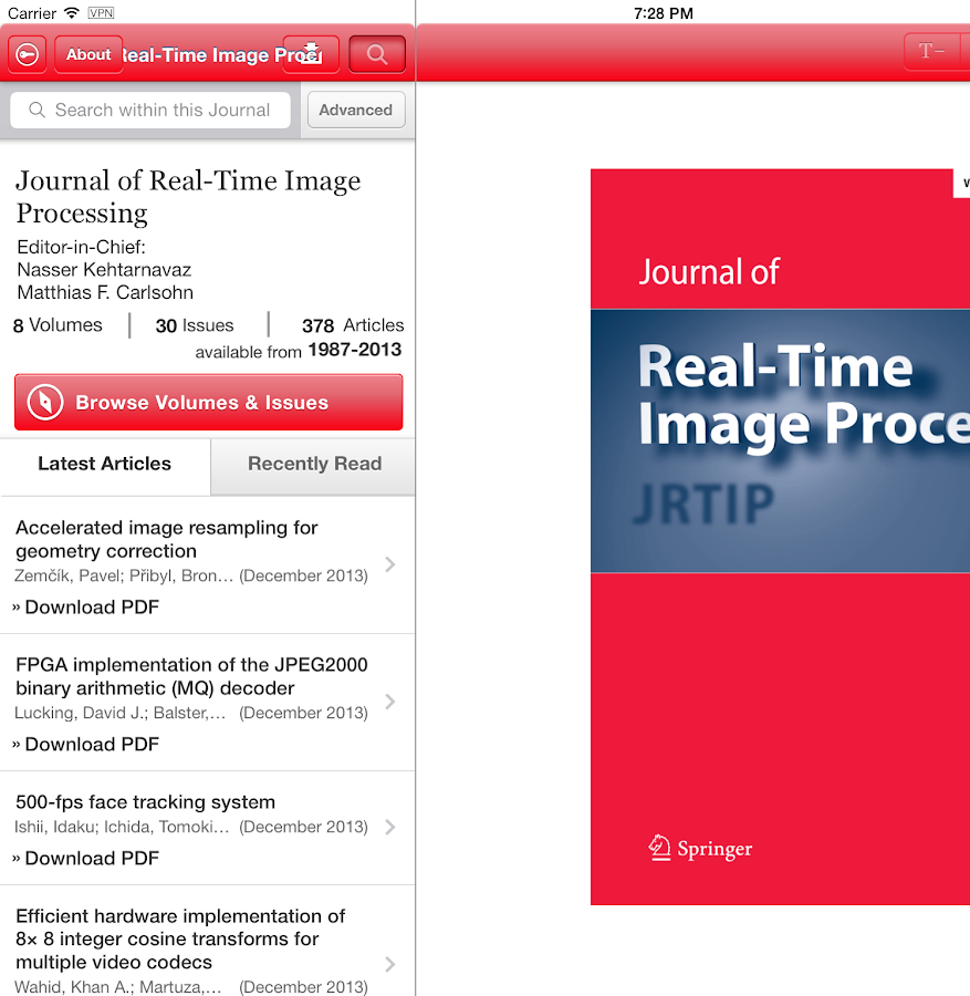 J Real-Time Image Processing- screenshot
