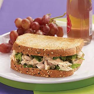 Tuna Florentine Sandwiches with Lemon-Caper Vinaigrette.