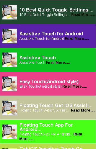 How to Enable Touch on Mobile
