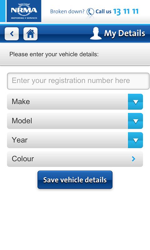 NRMA - screenshot