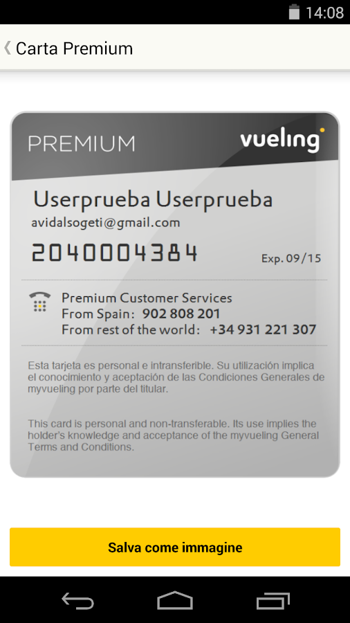 Vueling - Voli economici - screenshot