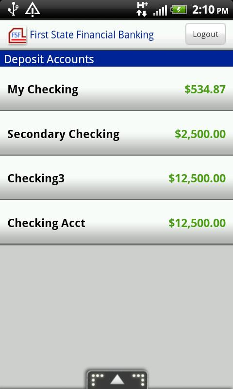 First State Financial Banking - screenshot