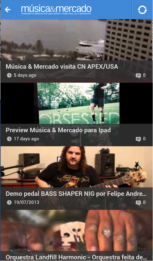 Revista Musica & Mercado - screenshot