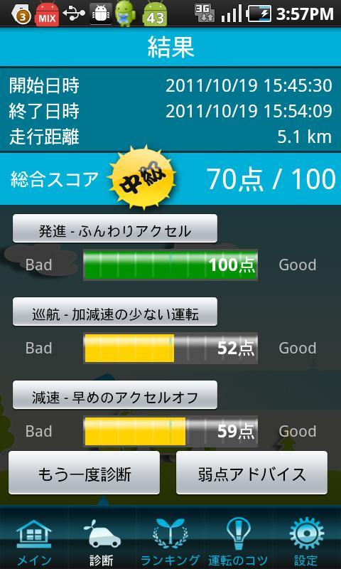 E1グランプリ エコ運転診断- screenshot