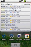 Screenshot of aniAgenda: Agenda widget