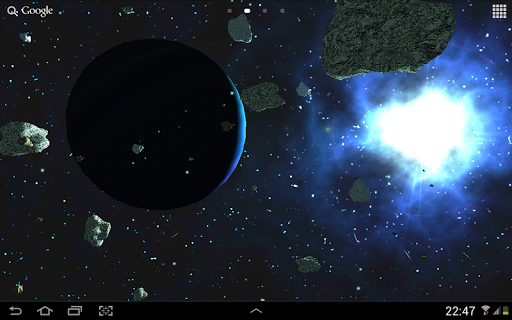 Asteroids 3D live wallpaper Screenshot