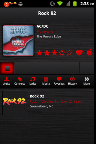 Rock 92- screenshot