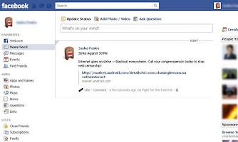 Screenshot of Save the Internet