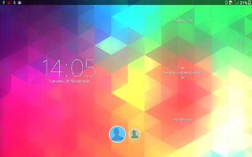 XPERIA™ Triflat Theme Screenshot