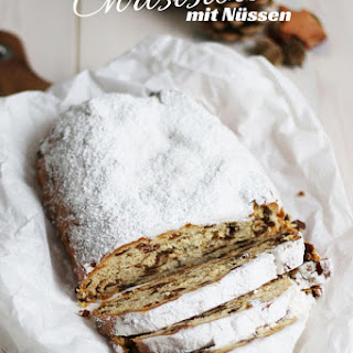Christstollen with Nuts.