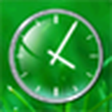 Glass Clock Widget 2x2 icon