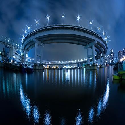城市夜景滑動拼圖