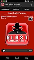 Screenshot of BLAST RADIO PANAMA
